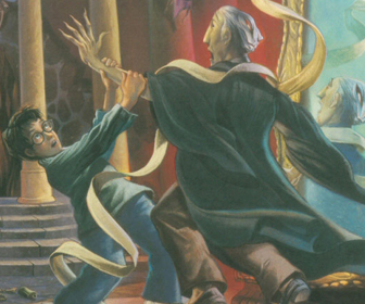 Harry fights Quirrell