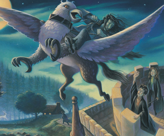 Sirius escapes on Buckbeak