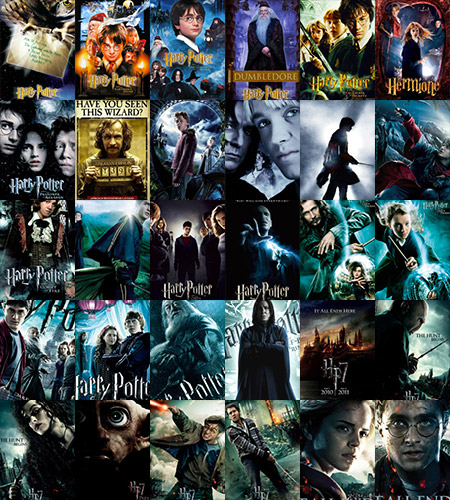 Explore all the movie posters used to promote the Harry Potter films