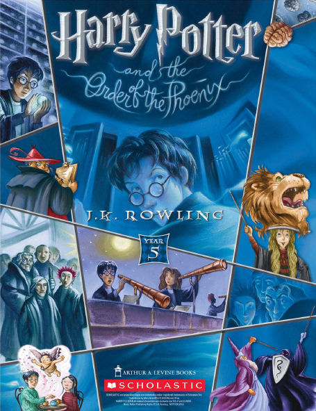 Harry Potter Book Five : Book harry potter and the order of phoenix —