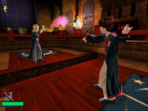 Harry and Draco duel in the Chamber of Secrets video game