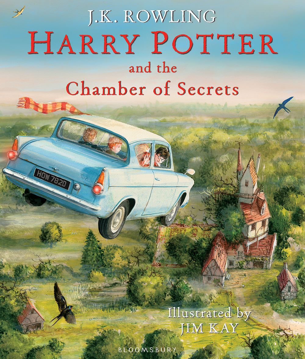 Chamber of Secrets illustrated edition cover artwork